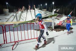 Чемпионат мира по прыжкам с трамплина. Нижний Тагил, спортсмен, прыжки трамплин, лыжи, долгая