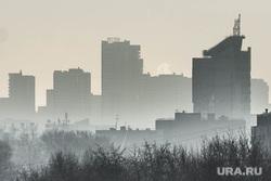 Клипарт. Екатеринбург, экология, панорама, смог, город