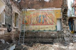 Храм иконы Нечаянная радость Челябинск, руины, храм иконы нечаянная радость, стройка