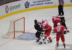 Хоккей Трактор Автомобилист Челябинск, гол, хоккей