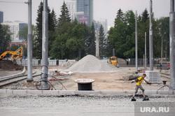 Ход работ на объектах улично-дорожной сети вокруг Центрального стадиона. Екатеринбург, строительные работы, ремонт дороги, перекресток ленина московская