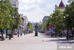 Политическая реклама Челябинск, улица кировка, лето, жара