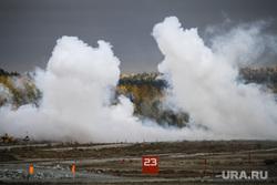 Выставка вооружений Russia Arms Expo-2013. RAE. Нижний Тагил, дым, военная техника, испытательный полигон