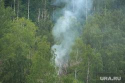 Пороги Саткинcкий район Челябинск, дым в лесу