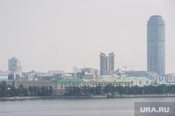 Смог. Екатеринбург, бц высоцкий, смог, бц антей, город екатеринбург, туман