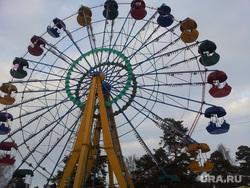 Зимнее солнцестояние, парк Гагарина, Челябинск, огненное колесо обозрения, аттракцион, колесо обозрения