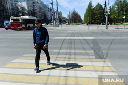 Город Челябинск, пешеходный переход, разметка