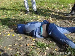 В Екатеринбурге задержали наркомана чуть не задушил девушку водителя. Екатеринбург, преступник, задержание