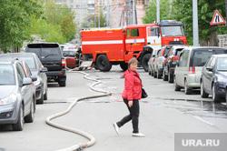 Пожар на подстанции Челябинск, пожарные