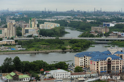 Виды Челябинска, река миасс, город челябинск, вид на будущий конгресс-холл к шос