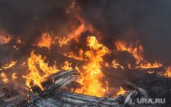 Пожар возле базы ОМОН в Екатеринбурге