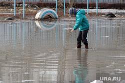 Урок мужества гимназия 27 Курган, лужа, паводок, наводнение