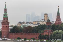 Клипарт. Москва. Сентябрь 2013 год, кремль, туман, москва-сити, город москва