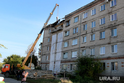 Поселок Энергетики Курган, ремонт здания, проспект конституции32