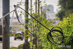 Демонтаж фонарных столбов и клипарт. Екатеринбург, провода, электричество, связь, кабели
