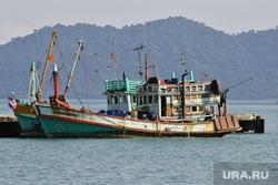 Таиланд, корабли, море берег, баркас
