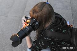 Генеральная репетиция парада 9 мая Челябинск, девушка, фотограф