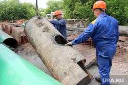 Пресс-тур раскопки КГК Курган, ремонтные работы, ржавые трубы, рабочие