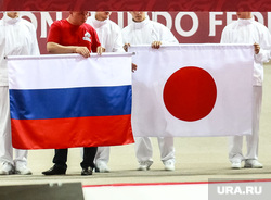 Турнир Большого шлема. Дзюдо. Тюмень, россия, япония, флаги