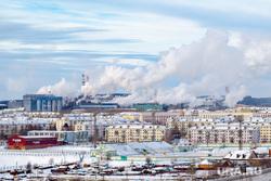 Рабочая поездка в Краснотурьинск., краснотурьинск, пятиэтажка, трубы дымят, дым из труб
