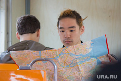 Клипарт. Санкт-Петербург, карта, иностранец, глонас, gps, азиат, турист