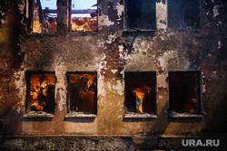 Пожар на Белинского, 163а. Екатеринбург, пожар, огонь, горящее здание