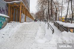 Снег. Екатеринбург, снег на ступенях