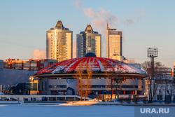 Снежный Екатеринбург, набережная исети, дивс, город екатеринбург