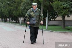 Пикет троллейбусы Курган, инвалид, пенсионер