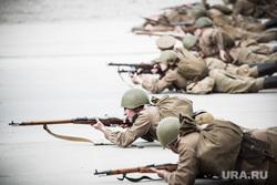 Реконструкторы. Екатеринбург, война, атака, советские солдаты, вов