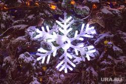 Вечерний город. Ханты-Мансийск., елка, новый год, снежинка