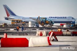 Очередной споттинг в Кольцово. Екатеринбург, самолет, ремонт, трансаэро