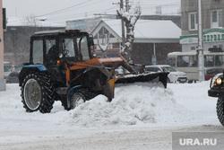 Уборка города от снега Курган, уборка снега