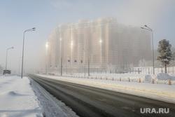 Клипарты. Сургут , туман, холод, зима, мороз