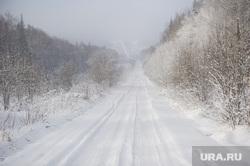 Дорога на поселок Серебрянка под Нижним Тагилом, зима, природа урала