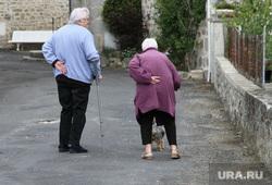 Открытая лицензия от 09.09.2016. Пенсионеры, бабушка, старики, дедушка, трость, пенсионеры