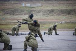 Росгвардия демонстрирует новинки вооружения и техники, борьба, росгвардия