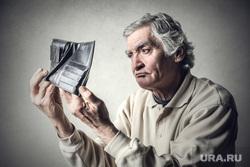 Клипарт depositphotos.com, пенсионер, старики, пенсия, дедушка, бедность, нехватка денег, пустой кошелек