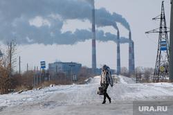 Клипарт. Троицкая ГРЭС. Челябинская область, трубы, загрязнение, экология, троицкая грэс