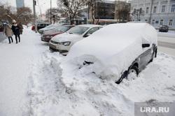 Зимний Екатеринбург, зима, сугроб, брошенная машина, снег в городе, улица малышева