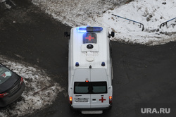 Задымление в коллекторе Челябинск, скорая помощь, проблесковый маячок