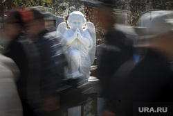 Родительский день. Северное и Широкореченское кладбища. Екатеринбург, ангел