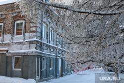 Зимний Курган., старинный дом, зима