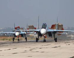 Российские самолеты на авиабазе Хмеймим Сирия., истребитель, Сирия, хмеймим, су 34