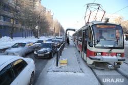 Микрорайон Уралмаш без света. Екатеринбург, трамвай, 24 маршрут, улица победы