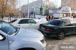 Пробки на перекрестке улиц Карла Маркса - Володарского.Курган.