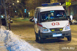 Пожар в нежилом доме Советская 136 Курган, скорая помощь