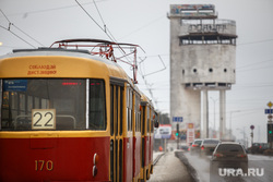 Белая башня. Конструктивизм. Екатеринбург, трамвай, белая башня, 22