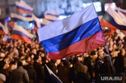 Крым. Референдум., митинг, толпа, российский флаг, флаг россии
