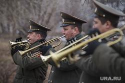 Репетиция парада Победы. Екатеринбург, военный оркестр, трубачи